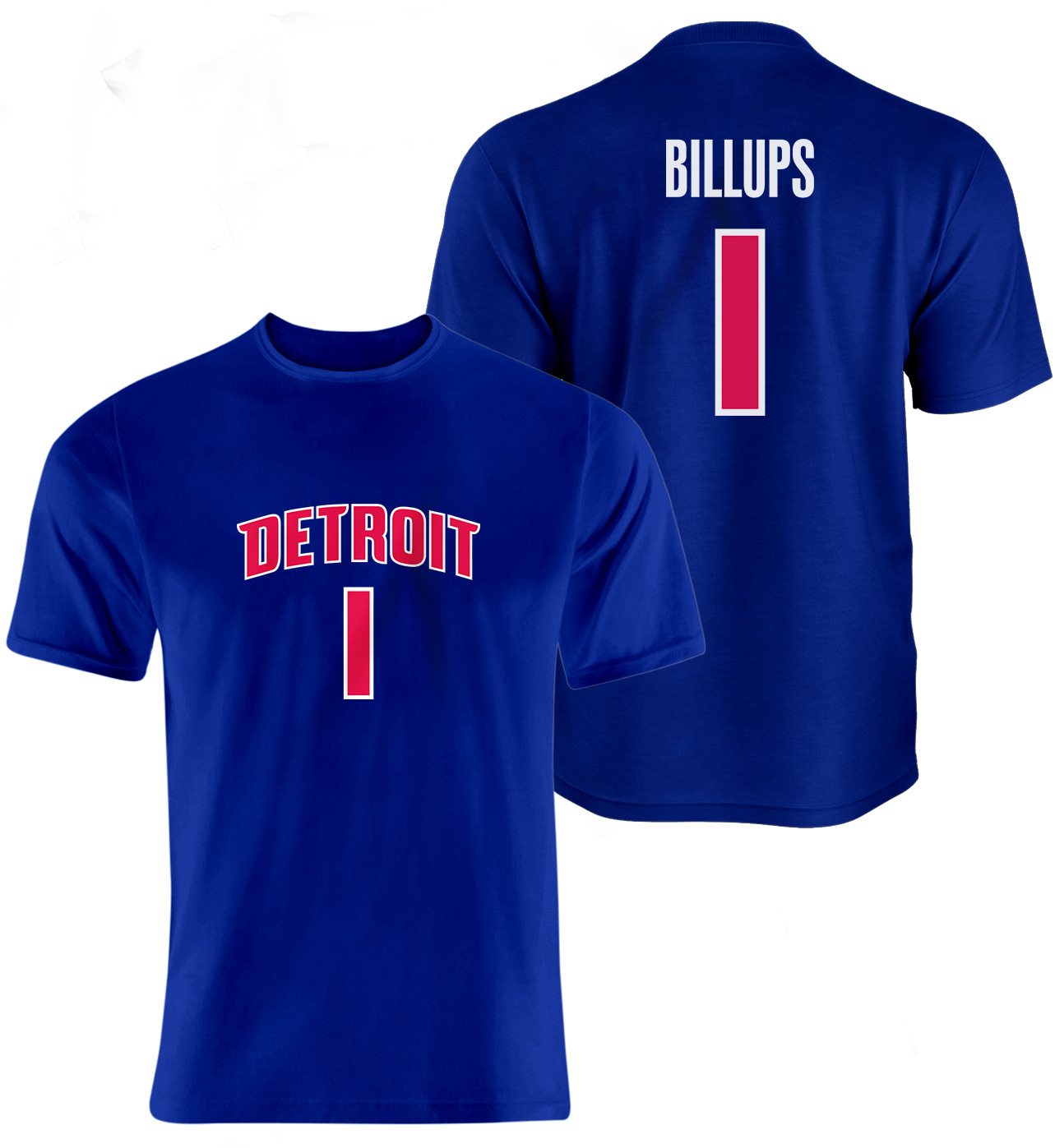 Detroit Pistons Chauncey Billups Vertical Tshirt (TSH-BLU-NP-75-PLYR-DET-BILLUPS.FRM)