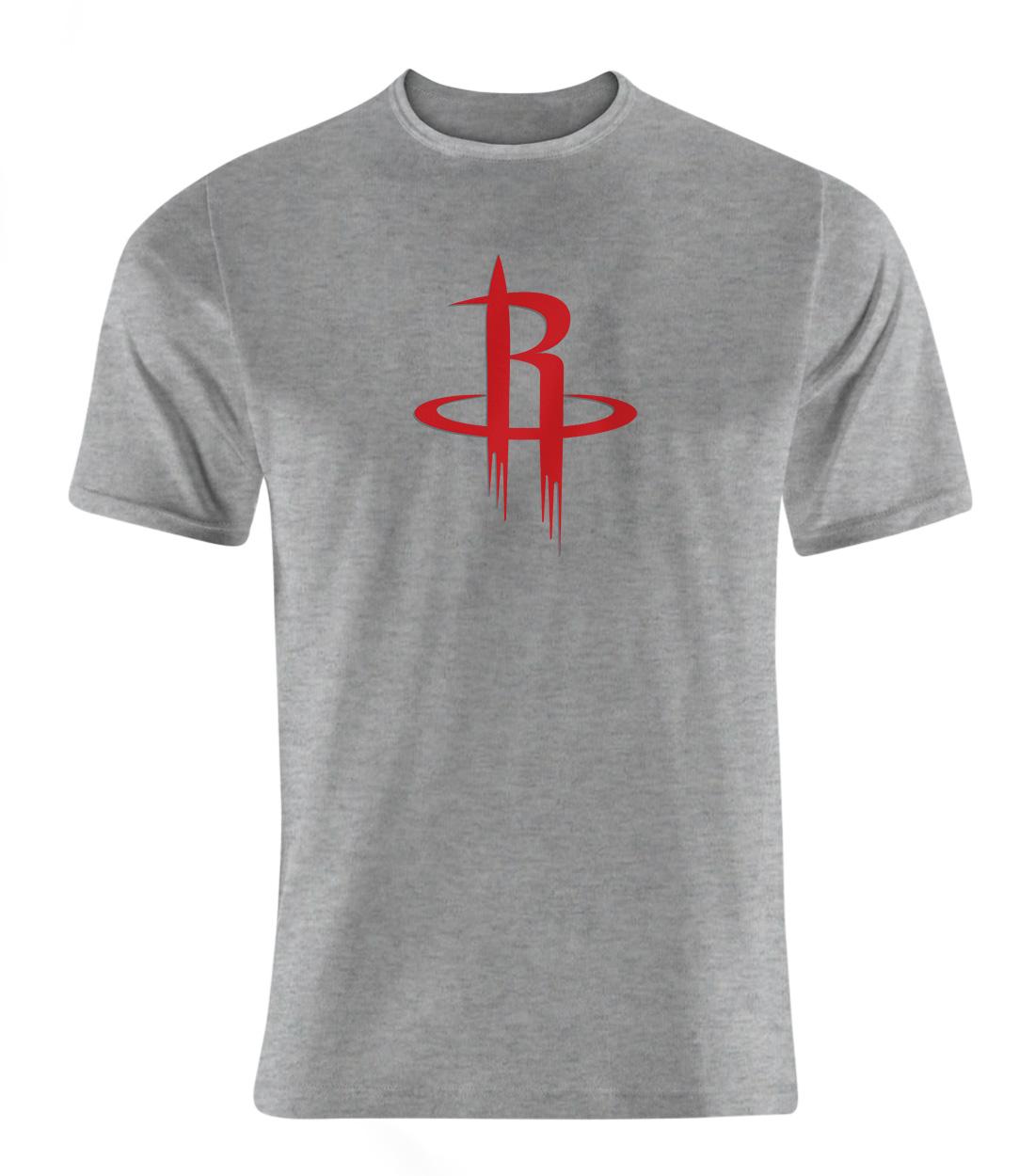 Houston Rockets Logo  Tshirt (TSH-GRY-NP-114-NBA-HOU-LOGO)