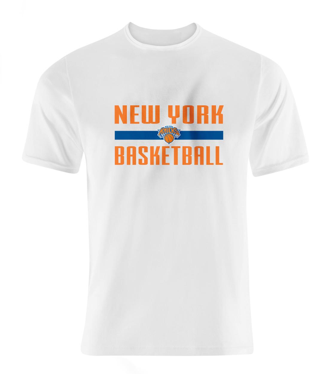 New York Knicks Basketball Tshirt (TSH-WHT-SKR-knicks-bsktbll-531)