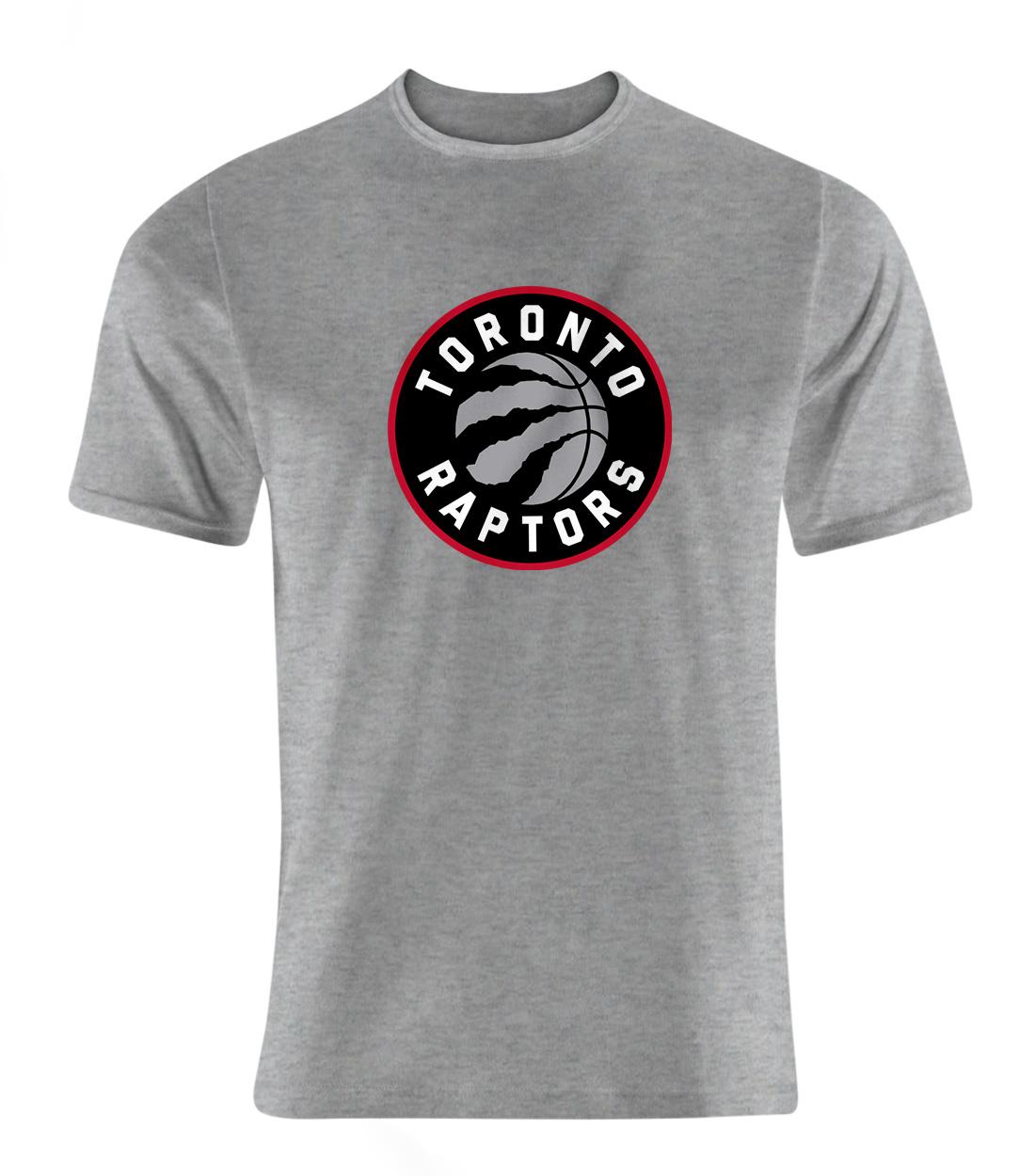 Toronto Raptors Tshirt (TSH-GRY-NP-197-NBA-TOR-LOGO)