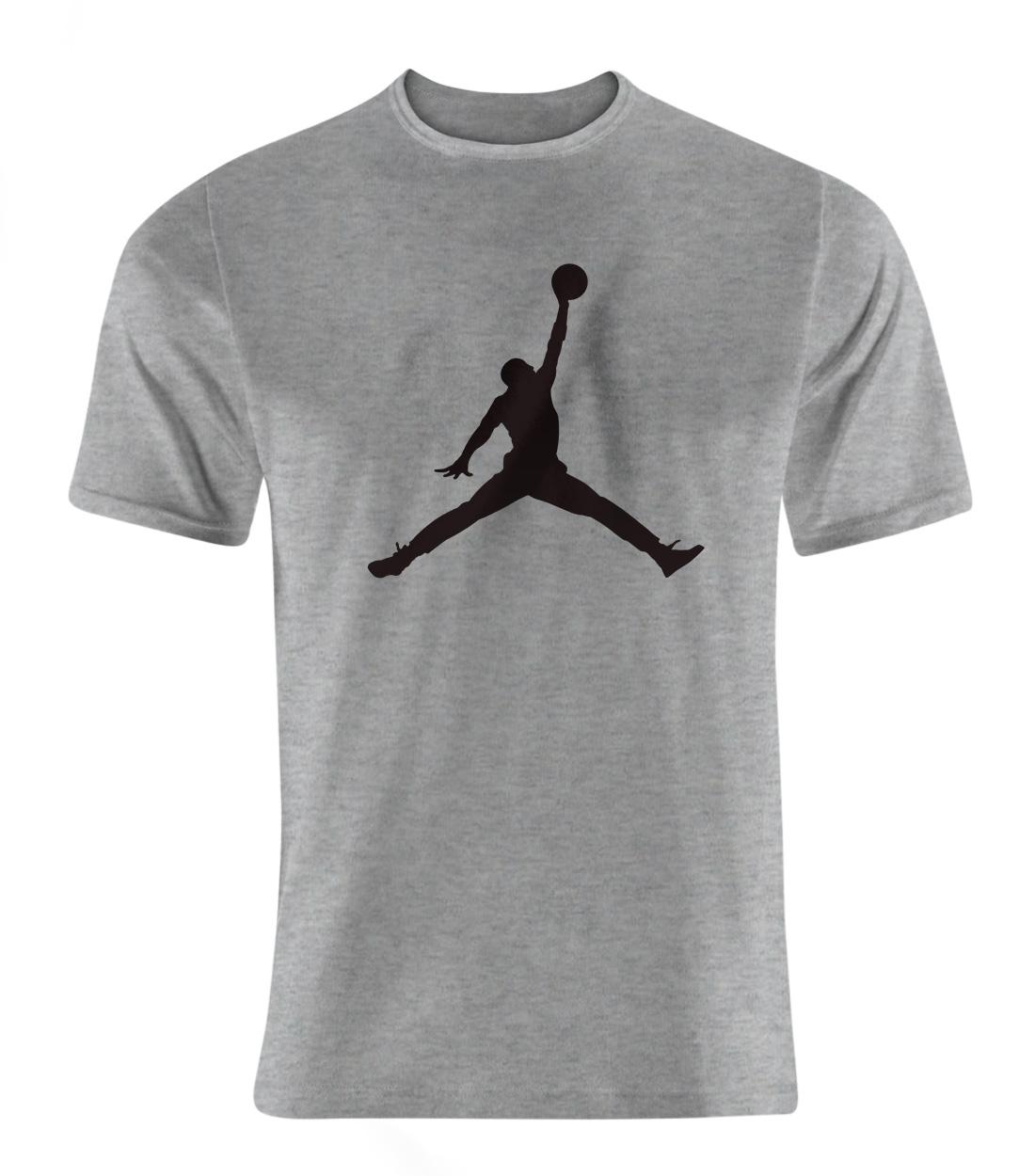 Air Jordan Tshirt (out-TSH-GRY-NP-4-PLYR-JRDN-SYH)