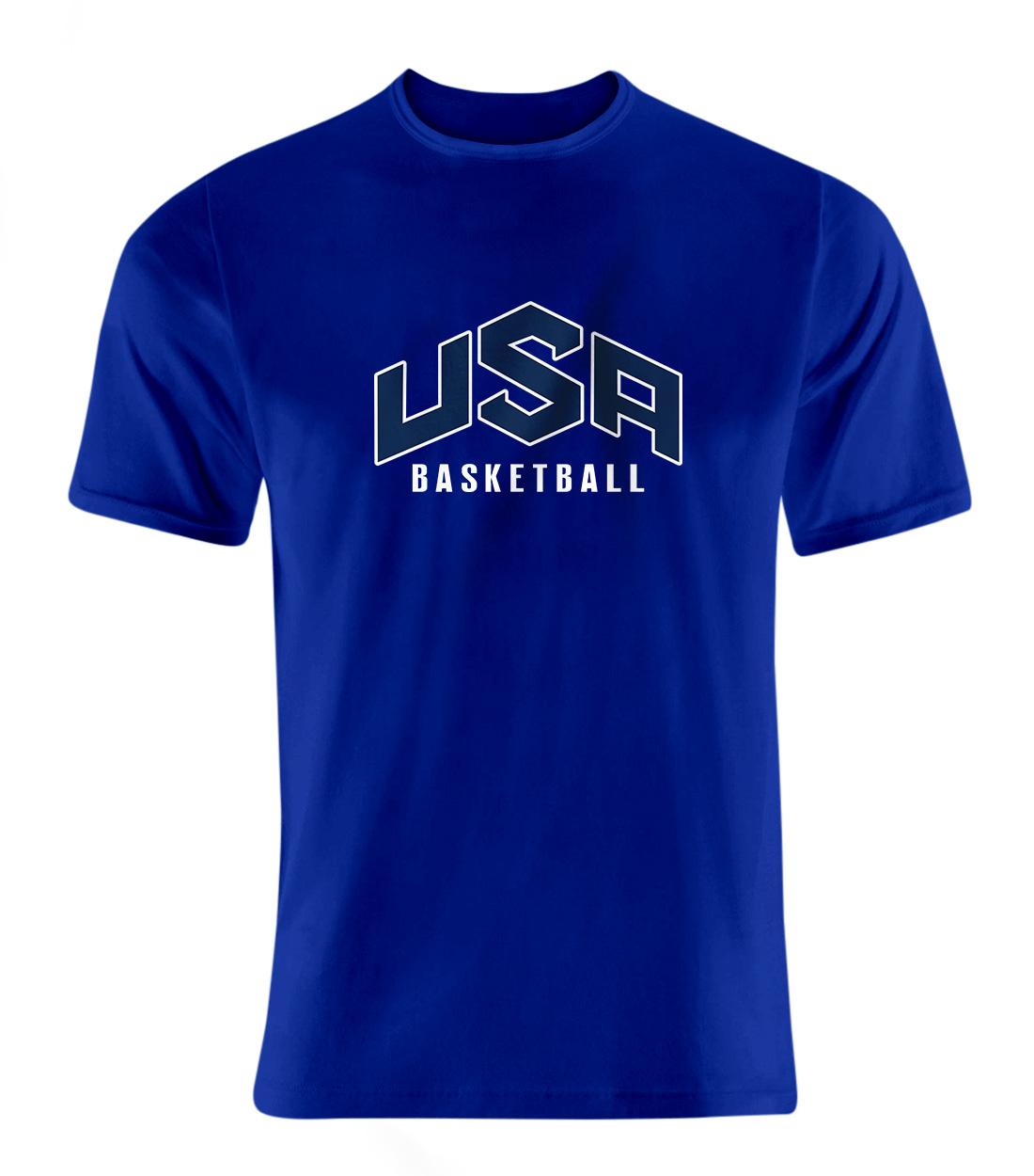 Olympic Team USA Basketball Tshirt (TSH-BLU-240-NBA-USA-BASKETBALL)