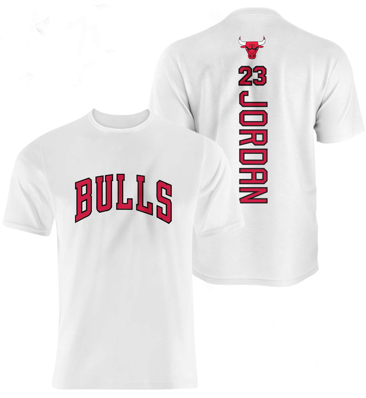 Chicago Bulls Air Jordan Vertical Tshirt (TSH-WHT-49-PLYR-CHI-JORDAN.VER)