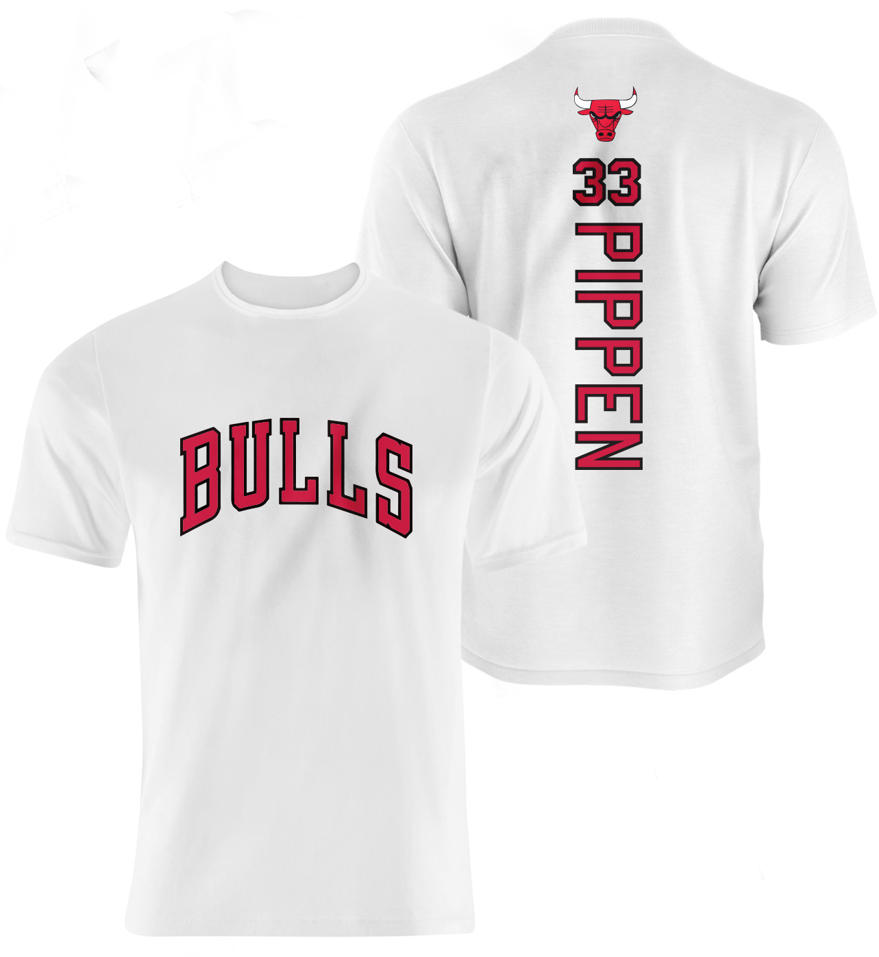 Chicago Bulls Scottie Pippen Vertical Tshirt (TSH-WHT-50-NBA-PLYR-CHI-PIPPEN.VER)