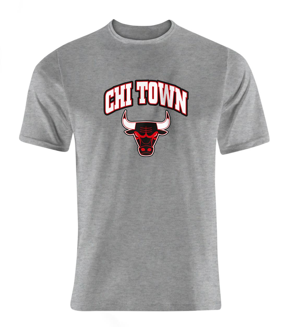 Chicago Bulls Chi Town Tshirt (TSH-GRY-NP-47-NBA-CHI-TOWN)