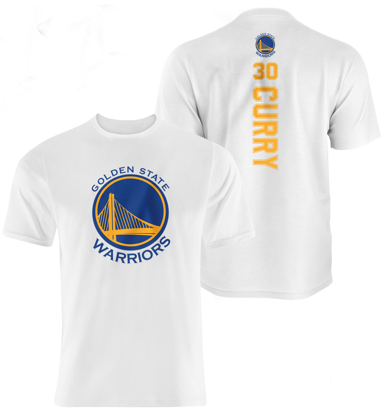 Golden State Warriors Stephen Curry Vertical Tshirt (TSH-white-097-PLYR-GSW-CURRY.VER)