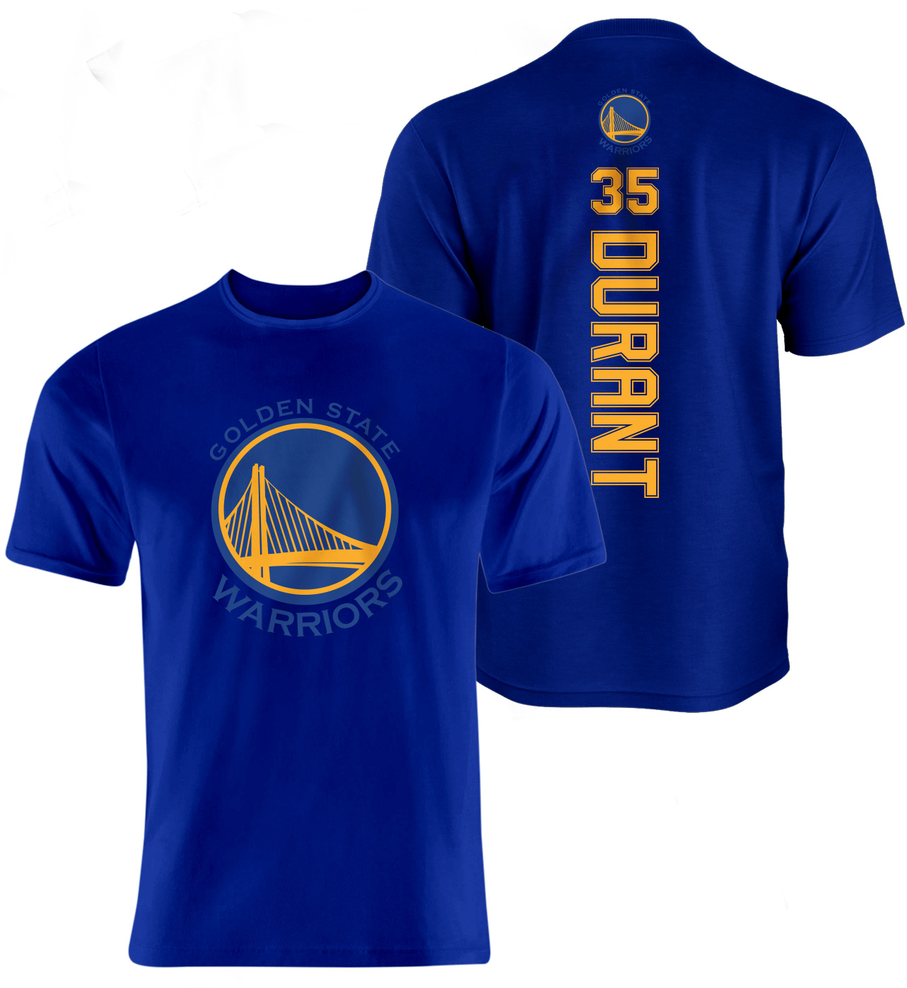 Golden State Warriors Kevin Durant Vertical Tshirt (TSH-blue-095-PLYR-GSW-DURANT.VER.2)