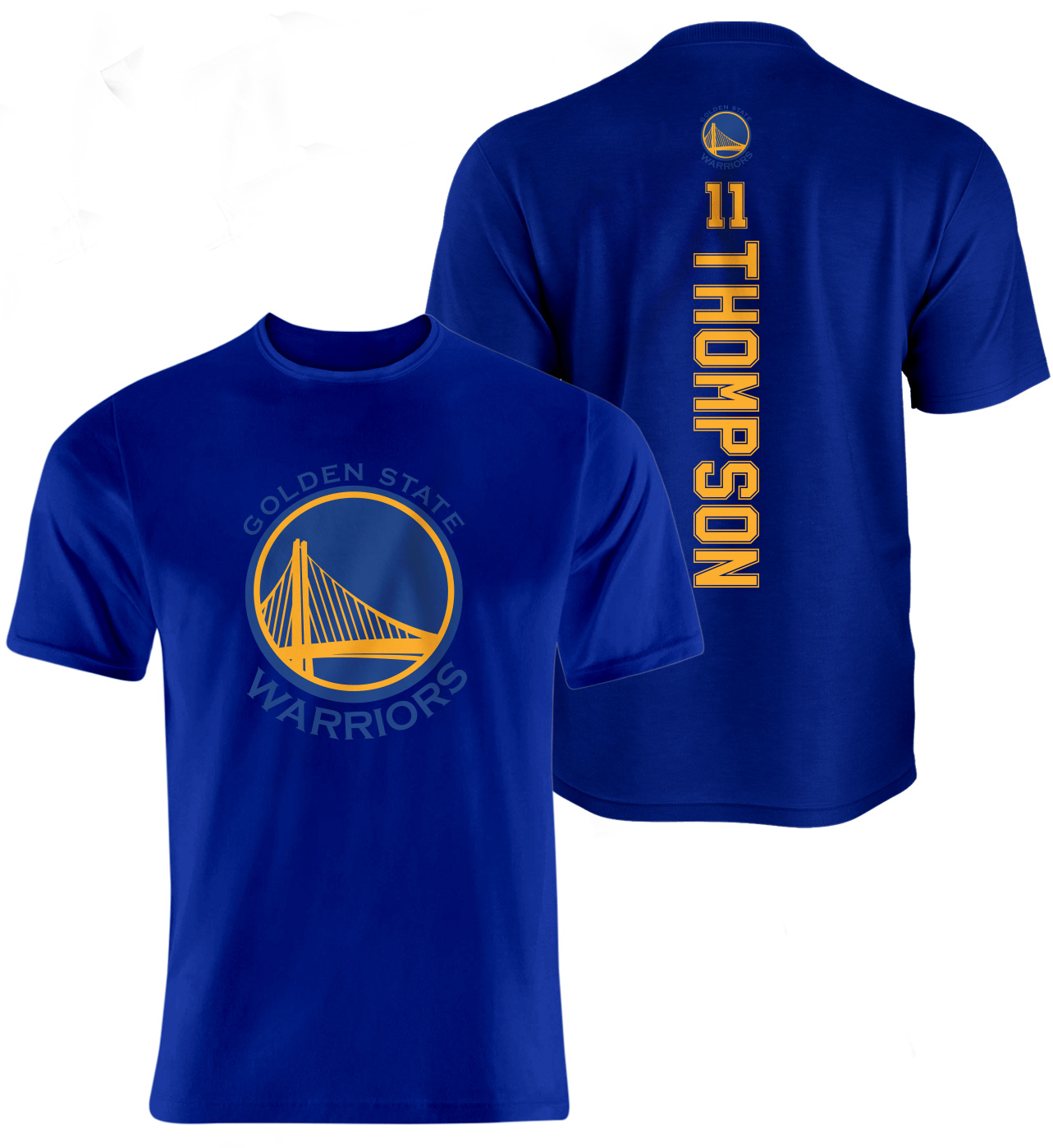Golden State Warriors Klay Thompson Vertical Tshirt (TSH-blue-096-PLYR-GSW-THOMPSON.VER)