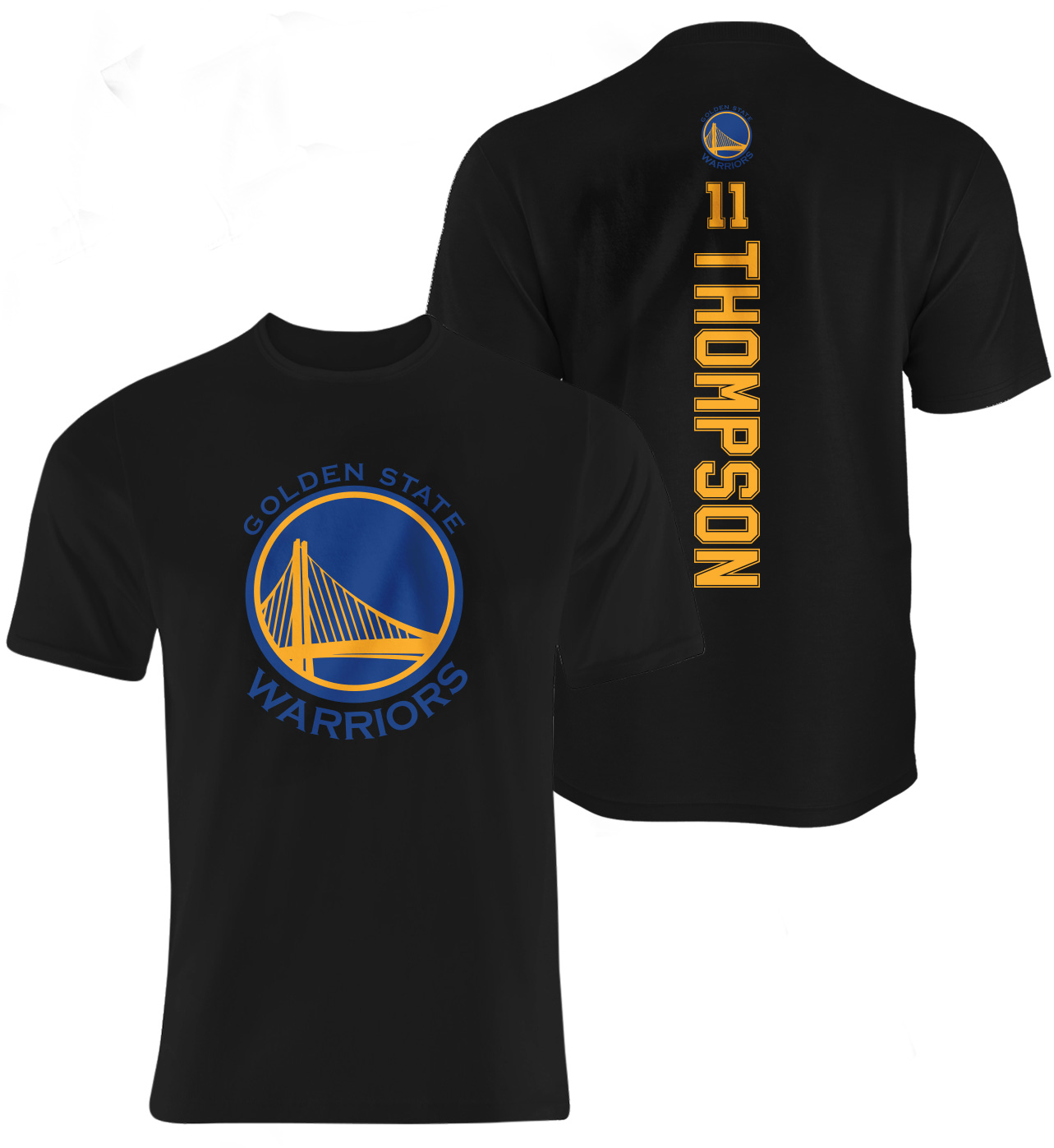 Klay Thompson Vertical Tshirt (TSH-BLC-096-PLYR-GSW-THOMPSON.VER)