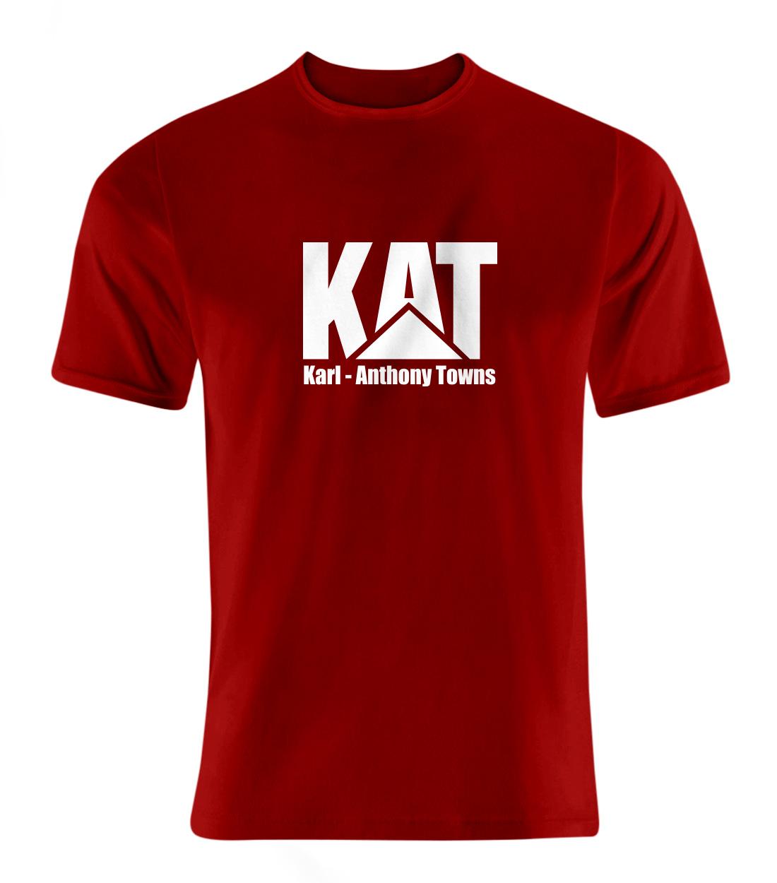 Karl Anthony Towns Tshirt (TSH-RED-PLT-kat-logo-616)