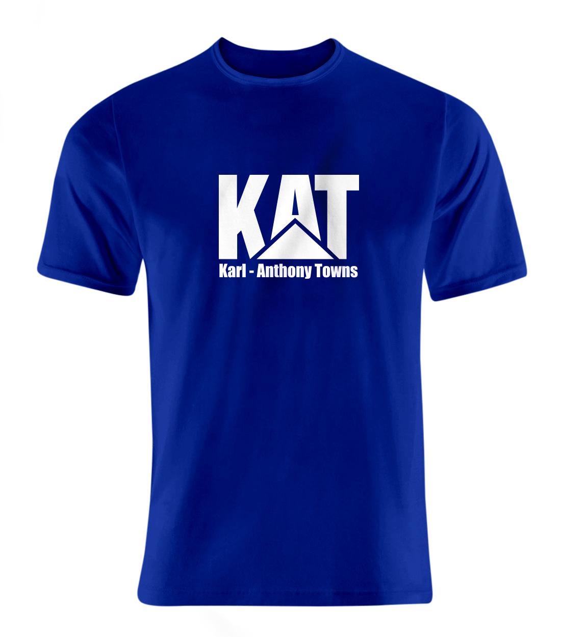 Karl Anthony Towns Tshirt (TSH-BLU-PLT-kat-logo-616)