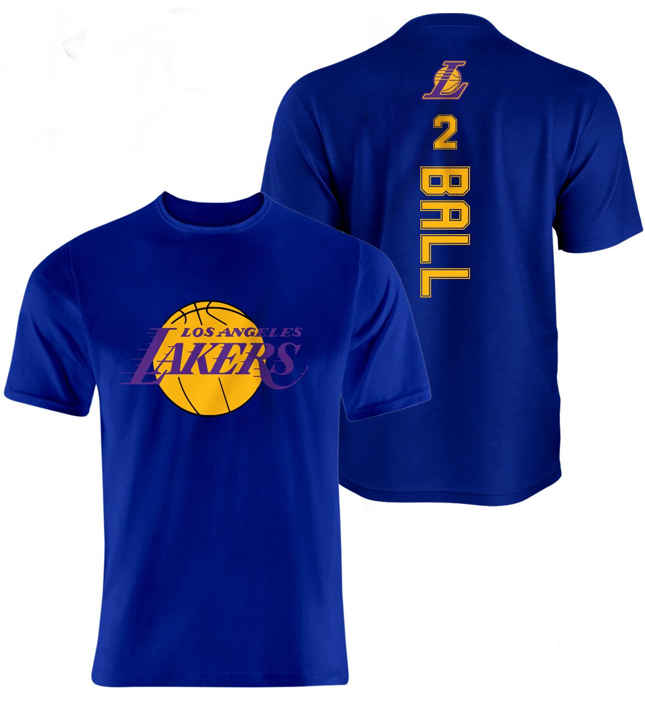 L.A. Lakers Lonzo Ball Vertical Tshirt (TSH-BLU-136-PLYR-LAL-BALL.VER)