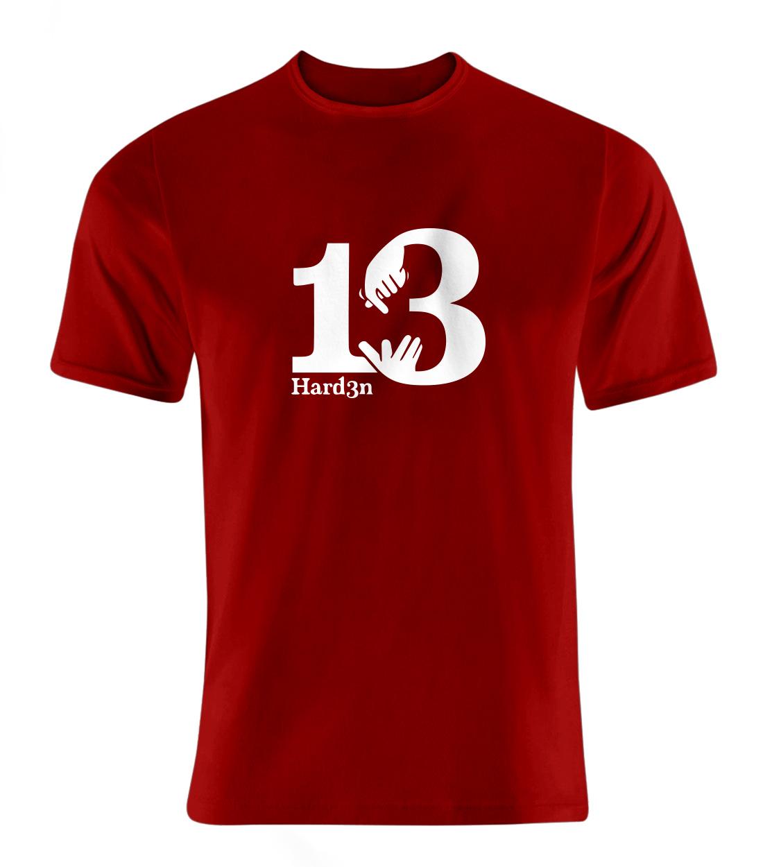 James Harden Tshirt (TSH-RED-NP-113-PLYR-HARDEN.13.BYZ)