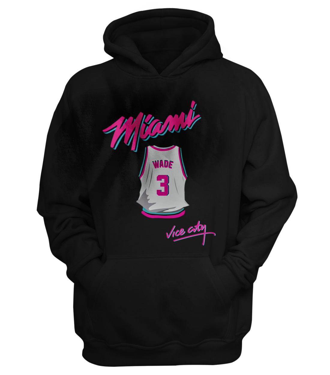 Miami Heat Vice City Hoodie (Wade) (out-HD-BLC-148-PLYR-MIA-WADE.JRSY)