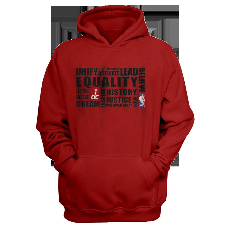 EQUALITY Washington Wizards Hoodie (HD-RED-NP-292-NBA.WSH.syh)