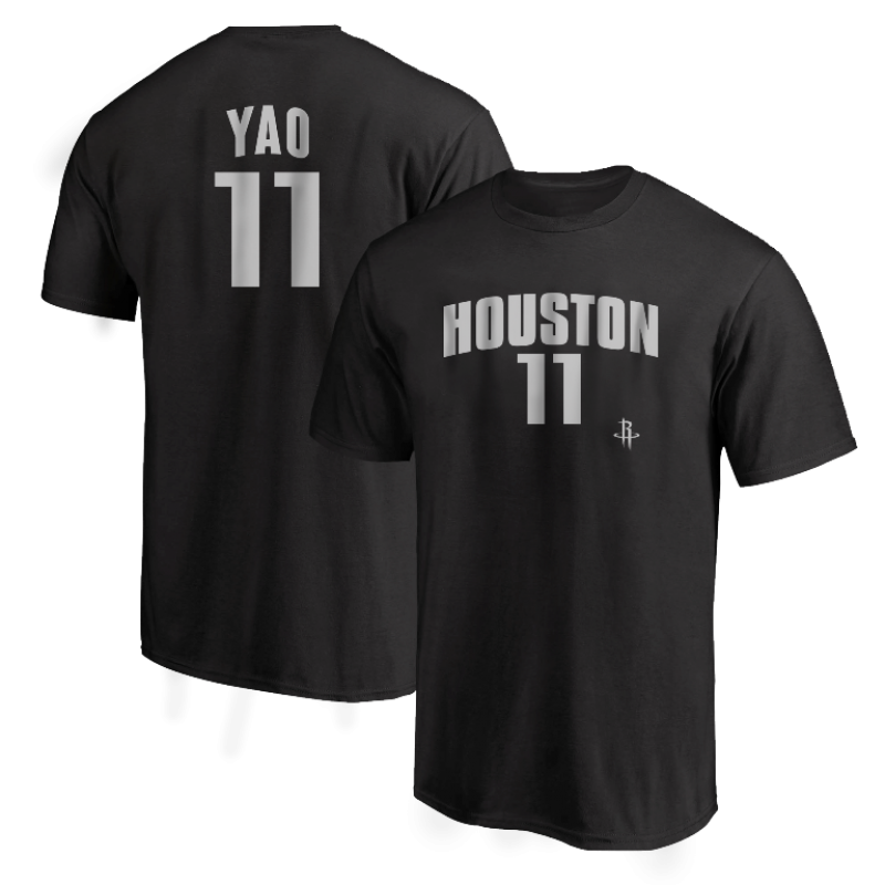 Houston Rockets Yao Ming  Tshirt (TSH-RED-PLT-Ming11-634)