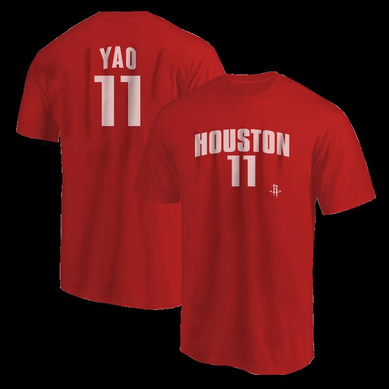 Houston Rockets Yao Ming  Tshirt (TSH-RED-NP-Ming11-634)