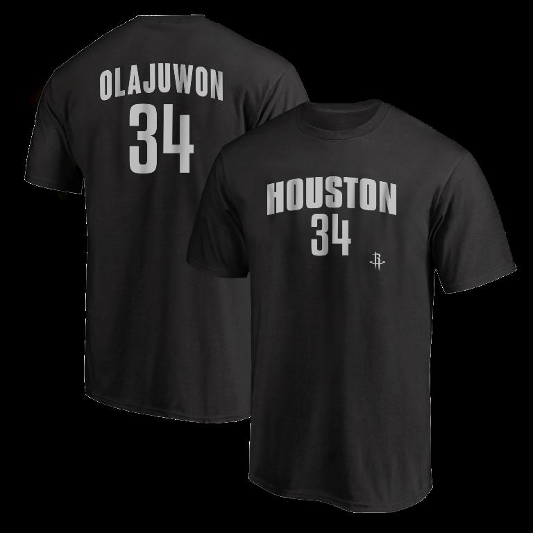 Hakeem Olajuwon Tshirt (TSH-BLC-NP- Olajuwon34-614)